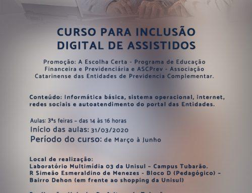 Curso de Inclusão Digital 2020/1: inscreva-se!